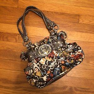 Kathy Van Zeeland Paisley Shoulder Bag